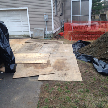 2-plywood-to-protect-driveway