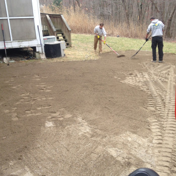 13-raking-out-lawn-area